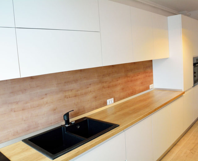 Kitchen wood countertops