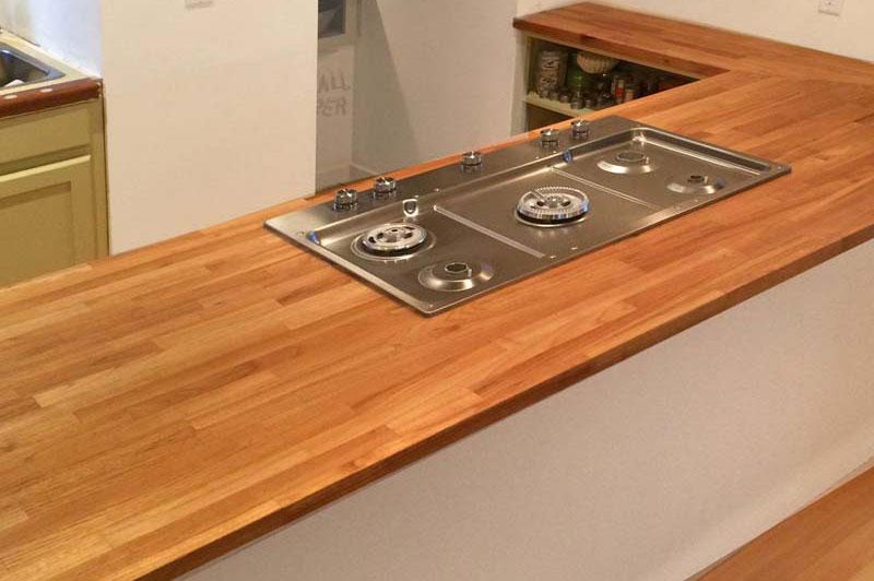 Black locust countertops and kitchen island tops