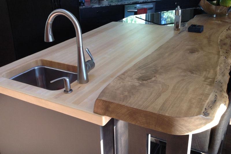 Live edge countertops and bar tops